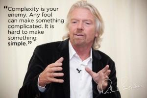 Simple - Branson Quote